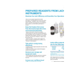 Lachat - Prepared Reagents Datasheet