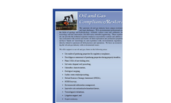 Oil And Gas Compliance/Restoration Brochure