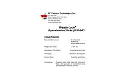 Waste Lock- TOTALSORB - Model Plus - Oil Absorbents  Brochure