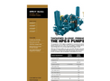 Wastecorp - HPE-9 Series - Severe Duty Plunger Pumps Brochure