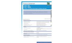 Hughes Safety - Models EXP-18G and EXP-18GS - Indoor Unheated Emergency Safety Shower - Datasheet