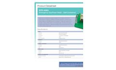 Hughes Safety - Model STD-68G - Emergency Eye Wash - Self-Contained - Datasheet