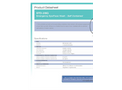 Hughes Safety - Model STD-28G - Emergency Eye/Face Wash - Self Contained - Datasheet