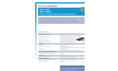 Hughes Safety - Models EXP-20G and EXP-20GS - Indoor Unheated Emergency Safety Shower - Datasheet