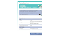 Hughes Safety - Models STD-25K/P and STD-25KS/P - Emergency Eye/Face Wash - Plumbed In - Datasheet