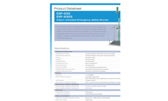 Hughes Safety - Models EXP-63G and EXP-63GS - Indoor Unheated Emergency Safety Shower - Datasheet