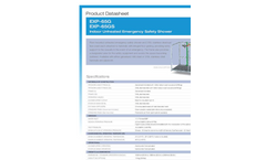 Hughes Safety - Models EXP-65G and EXP-65GS - Indoor Unheated Emergency Safety Shower - Datasheet