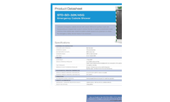 Hughes Safety - Model STD-SD-32K/45G - Emergency Cubicle Shower - Datasheet