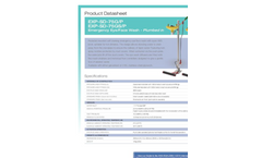 Hughes Safety - Models EXP-SD-75G/P and EXP-SD-75GS/P - Emergency Eye/Face Wash - Plumbed In - Datasheet
