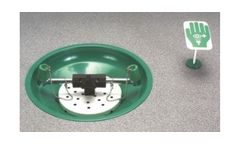 Hughes Safety - Model LAB-85GS/T - Table Mounted Eye/Face Wash with Powder Coated Stainless Steel Bowl