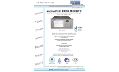 airmoVOC BTX Benzene / Toluene / Ethylbenzene / Xylenes Analyzer - Brochure