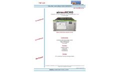 airmo H-CHO Formaldehyde Analyzer - Brochure