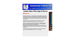 Custom Fabric Filter Bags & Sleeves Brochure