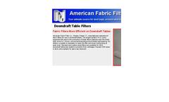 Downdraft Table Filters Brochure