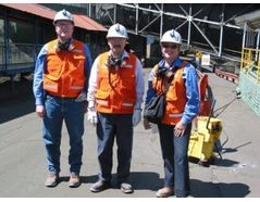 Site visit with plant manager at El Teniente, the largest copper mine in Chile.
