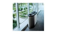 Model Boka Series - Stainless Steel Recycling Container