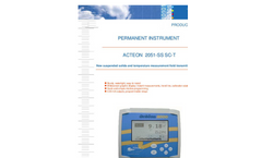 ACTEON 2051-SS SC-T - Suspended Solids And Temperature Measurement Field Transmitter (Self- Cleaning) Data Sheet