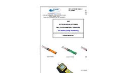 SET ACTEON/AQUA/ACTEWIN - Multi-Parameter 6 Sensors For Water Quality Monitoring User Manual
