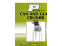 Can And Glass Crusher Model 150 Brochure