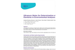 Determination of Toxic Elements in Environmental Analyses