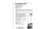 Model C-20 - Cast Iron Canal Gates Brochure