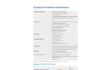 LG Sonic - Model e-Line - Advanced Treatment Against Algae - Specifications