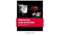 Tracer gas leak detectors