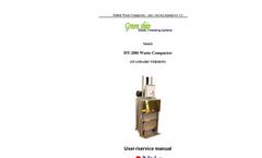 DT-200i Waste Compactor & Baler User Manual