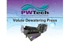 PWTech Volute Dewatering Press and Volute Thickener - Video