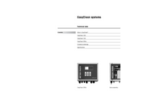 EasyClean100 Automated Flushing of Sensors Technical Specifications