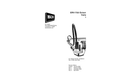 Mounted Valve Exercisers ERV-750- Brochure