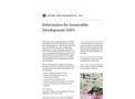 Information for Sustainable Development (ISD) - Brochure