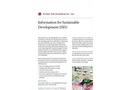 Information for Sustainable Development (ISD) - Brochure