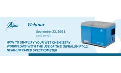 FREE WEBINAR: How to simplify your wet chemistry workflows with the use of the InfraLUM FT-12 Near-Infrared spectrometer