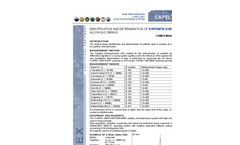 Application - Identification and determination of synthetic dyes in soft and alcoholic drinks