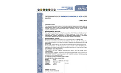 Application - Determination of phenoxycarboxylic acid herbicides in water - Brochure