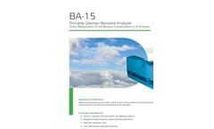 BA-15 Benzene Analyzer - Brochure