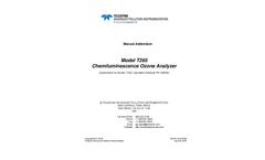 TAPI - Model T265 - Chemiluminescence O3 Analyzer - Manual
