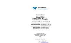 TAPI - Model T200 - Chemiluminescence NO/NO2/NOX Analyzer - Manual