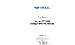 TAPI - Model T200H - High Range Chemiluminescence NO/NO2/NOx Analyzer - Manual