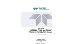 TAPI - Model T200P - Photolytic NO/NO2/NOX Analyzer - Manual