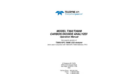 TAPI - Model T360M - Mid-Range Gas Filter Correlation CO2 Analyzer - Manual