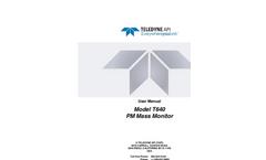 TAPI - Model T640 - PM Mass Monitor - Manual