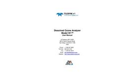 TAPI - Model W1 - Dissolved Ozone Analyzer - Manual