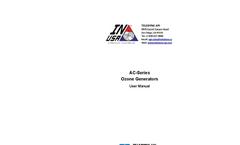TAPI - Model AC Series - Air Cooled Ozone Generators - Manual