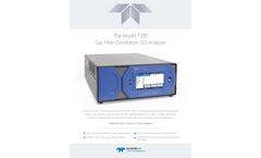 TAPI - Model T300 - Gas Filter Correlation CO Analyzer - Specification Sheet