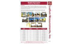 Ludlum - Model 4525 Series - Vehicle Monitor - Brochure