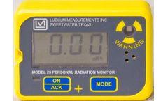 Ludlum - Model 25 Series - Personal Radiation Monitor