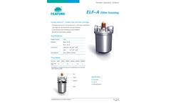 Model ELF-A - Single Cartridge Filter Housing - Datasheet