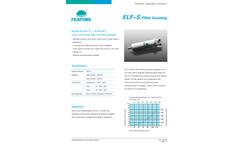Feature - Model ELF-S - Single Cartridge Filter Housing - Datasheet